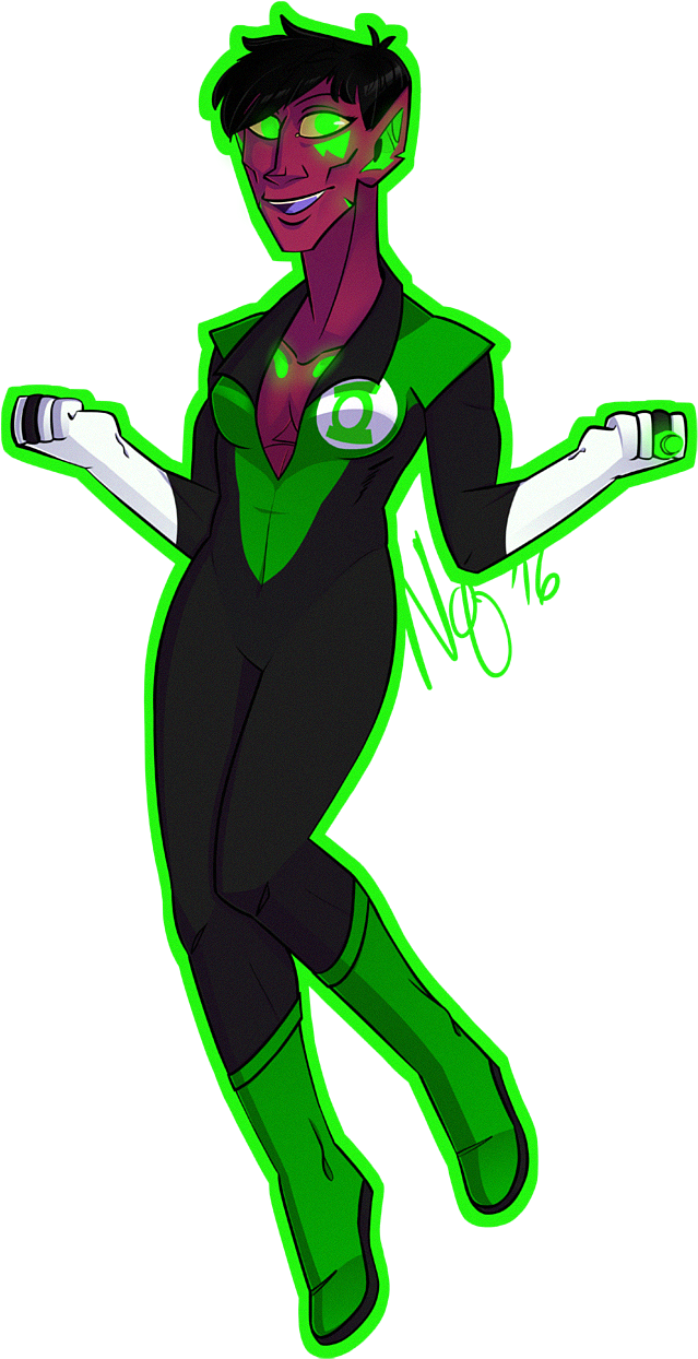 Soranik Natu Sinestro Old Art Of My Other Favorite - Illustration Clipart (800x1365), Png Download
