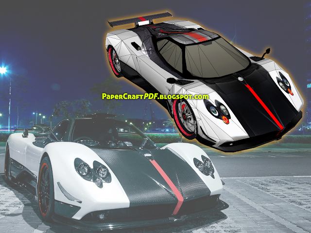 Download Free Paper Craft Pdf Templates Online Free - Sports Cars In The City Clipart (640x480), Png Download