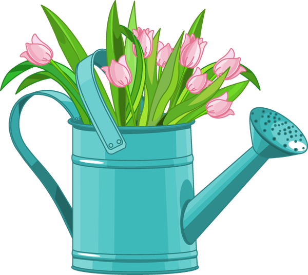 Clip Royalty Free Library Web Design Development Clip - Spring Watering Can Clip Art - Png Download (600x536), Png Download
