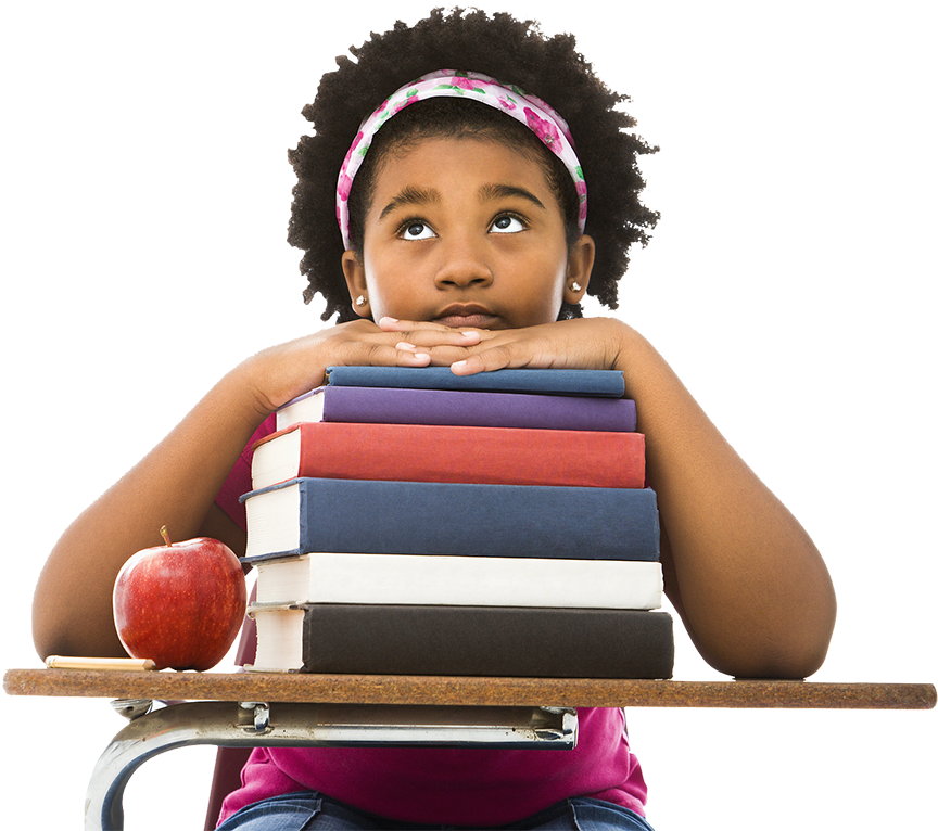 Student 4 - African American Elementary Students Clipart (900x790), Png Download