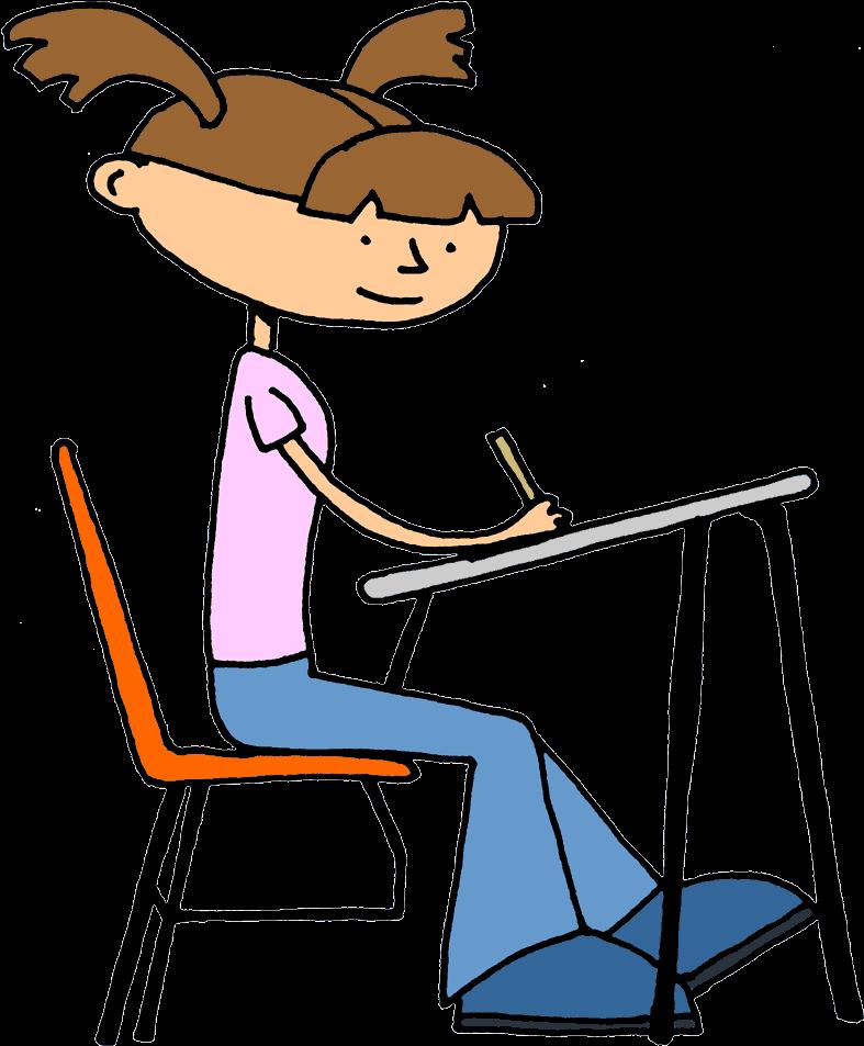 Png Test Taking Students Transparent Test Taking Students - Student Working Clipart (800x962), Png Download