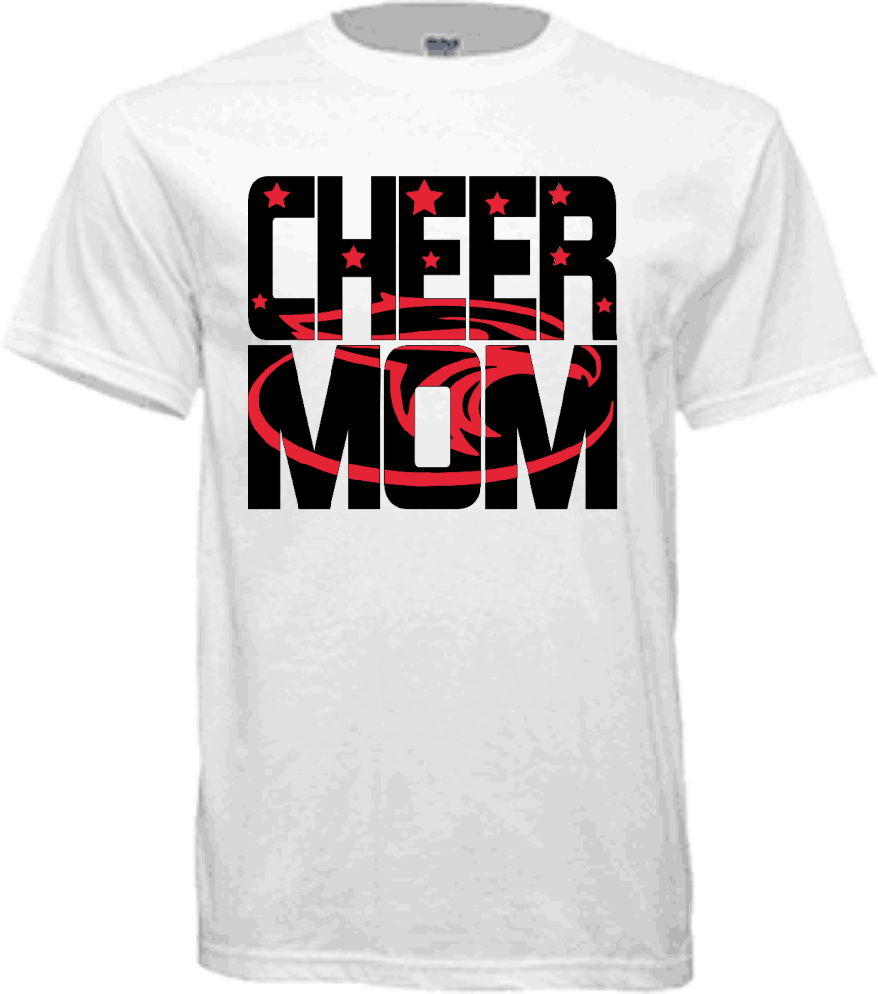 Home / Family Shirts / Cheer Mom Knock-out Shirt - Active Shirt Clipart (1809x2048), Png Download