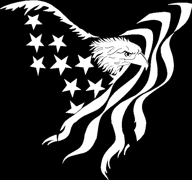 Eagle and Flag Clip Art