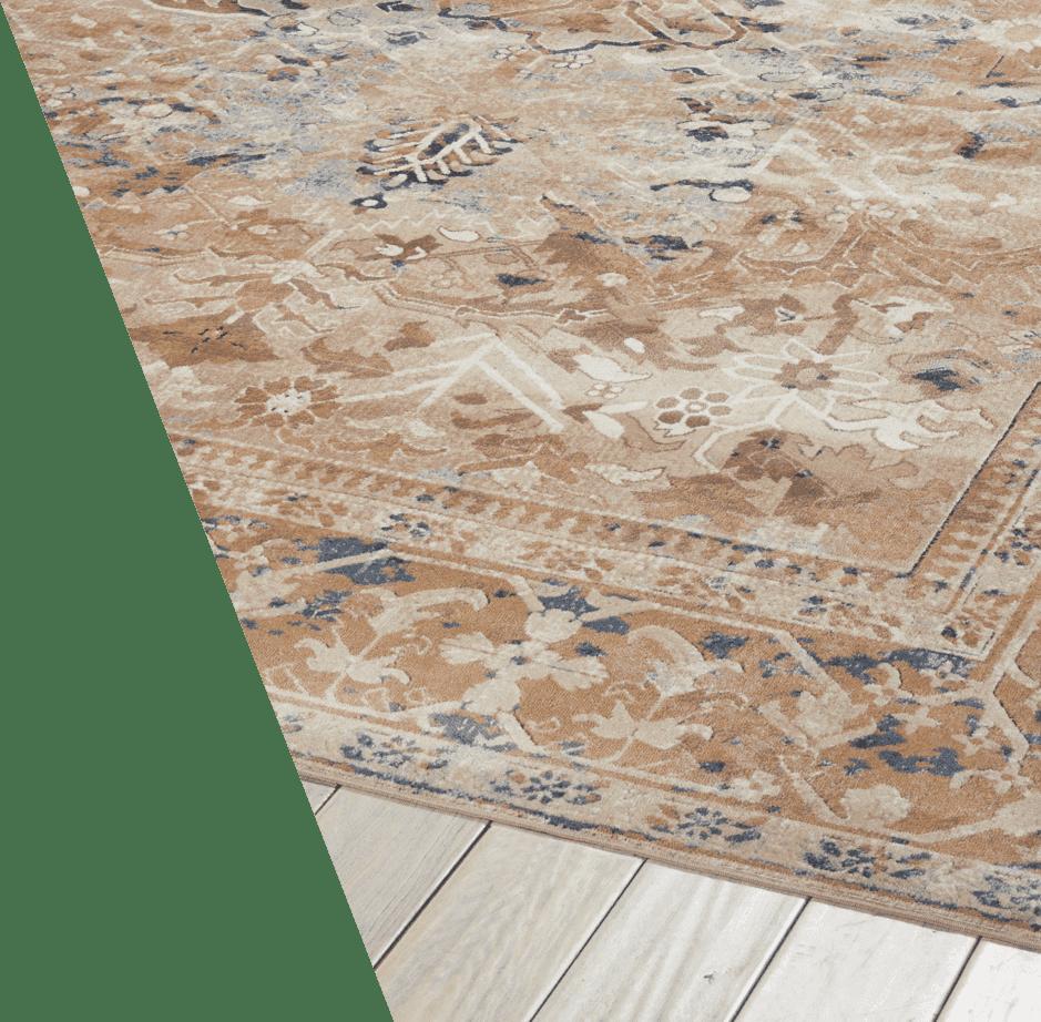 Pale Blue Vintage Rug - Floor Clipart