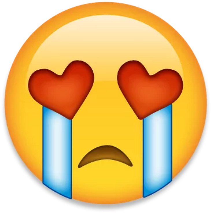 Sad Sticker Inlove Emoji Clipart Large Size Png Image Pikpng