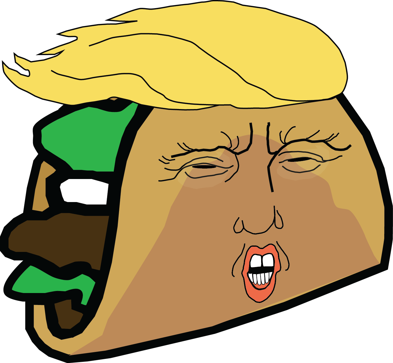 Restaurant Offers Discounts Thanks To Trump - Donald Trump Taco Stand Clipart (1347x1245), Png Download