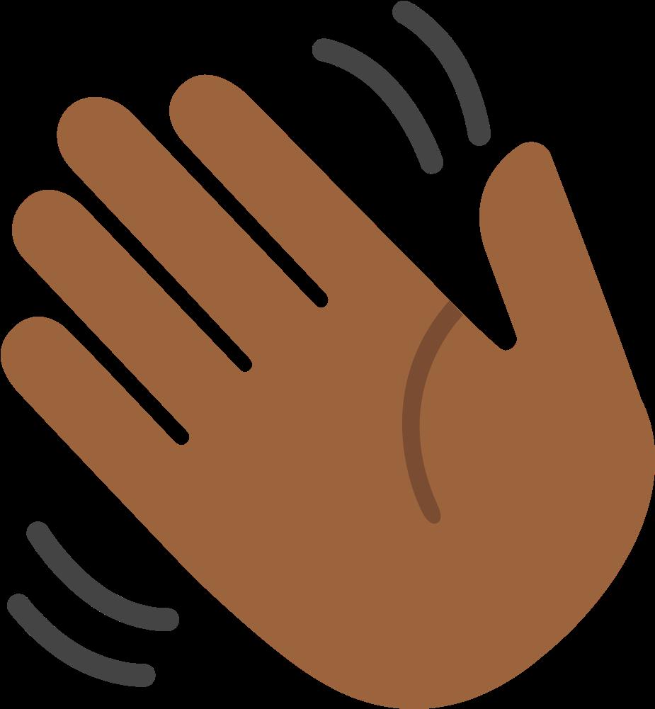 hand waving clipart - 925×1001