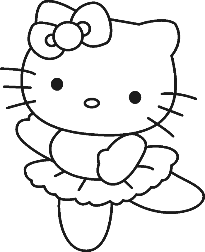 Christmas Hello Kitty - Coloring pages Christmas | 860x700