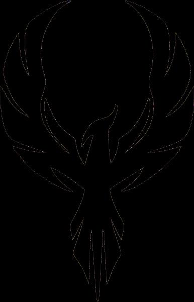 Eagle Phoenix Fire - Silhouette Of A Phoenix Clipart (600x600), Png Download