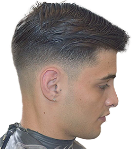 Fade Cut Hair Cutting Style Boy Png Clipart Large Size Png Image Pikpng
