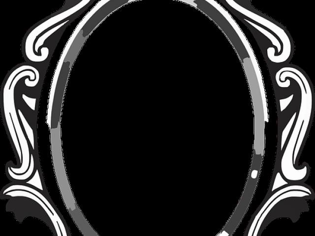 Baroque Frame Cliparts Mirror Clipart, Black And White Mirror Clipart