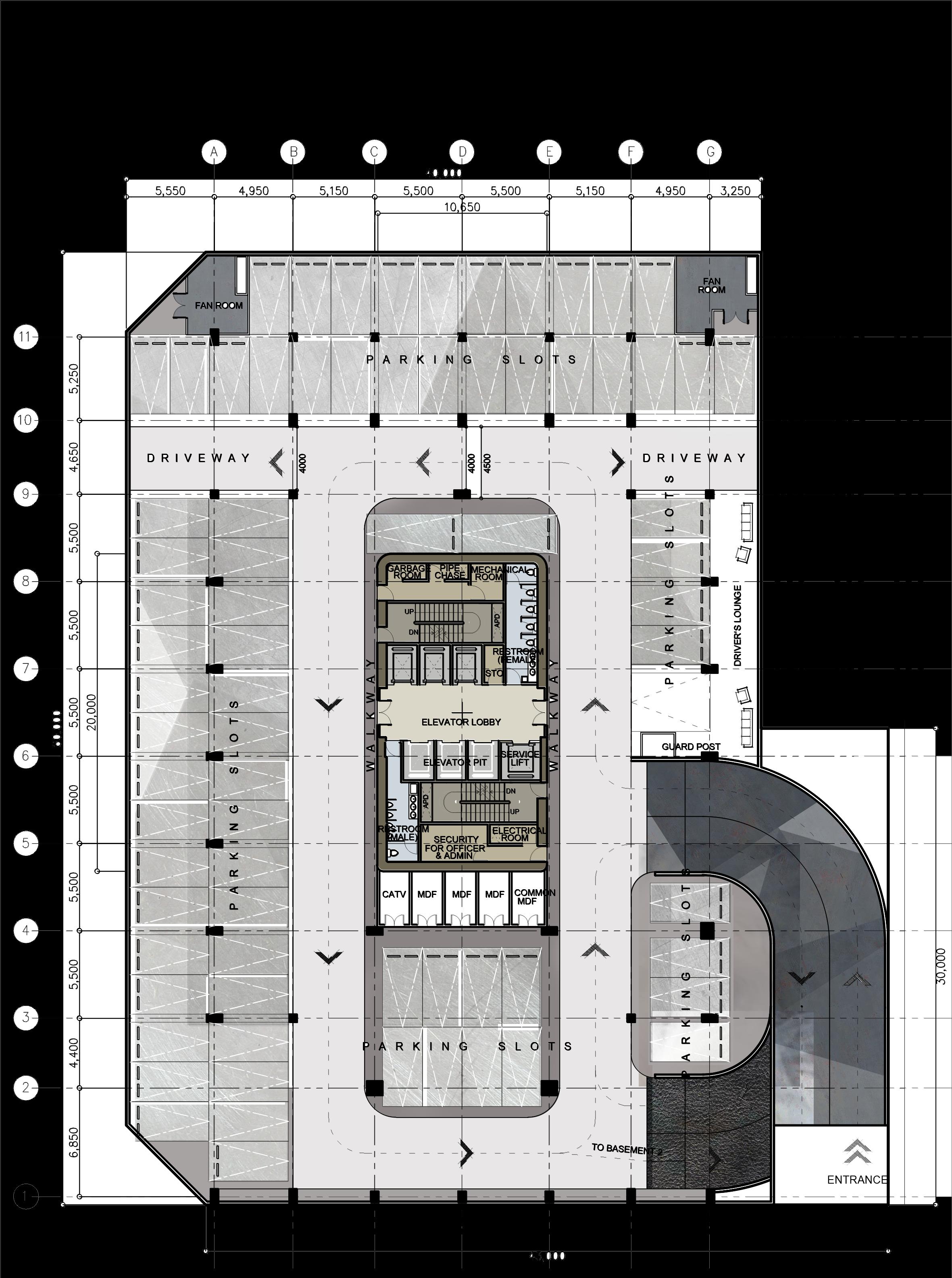 Commercial Building Floor Plans Png Multi Storey Car Parking Plan Clipart Large Size Png Image Pikpng