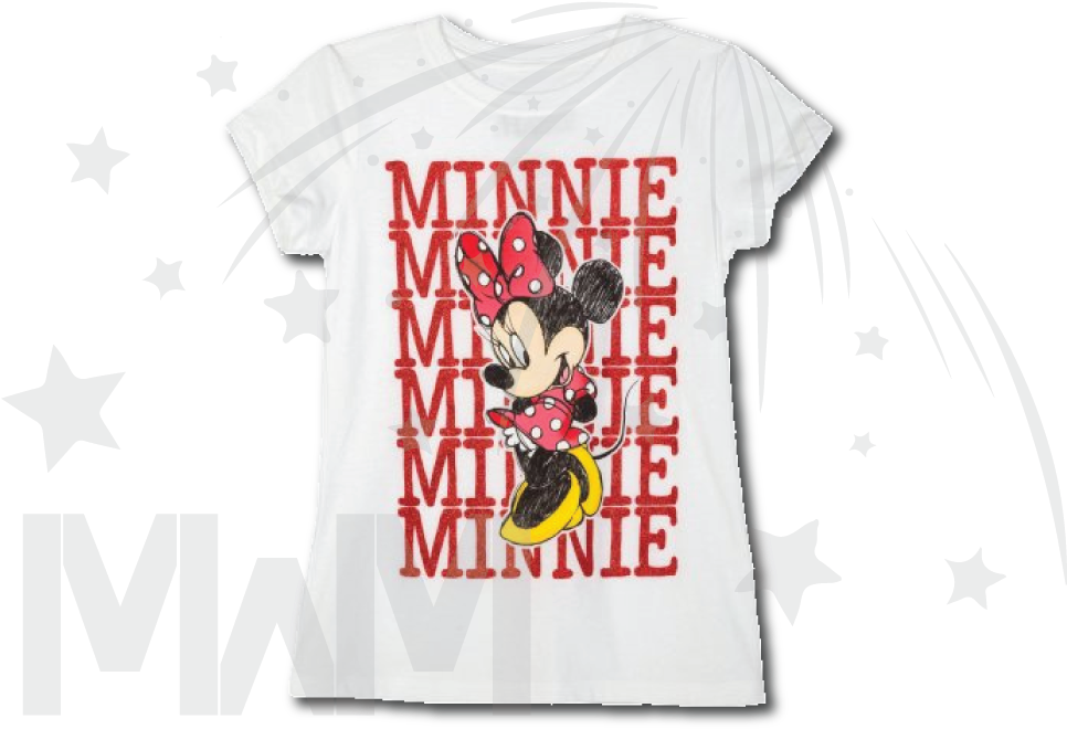 Minnie Mouse Toddler White Tshirt Xs-xl Sizes - Active Shirt Clipart (1013x697), Png Download