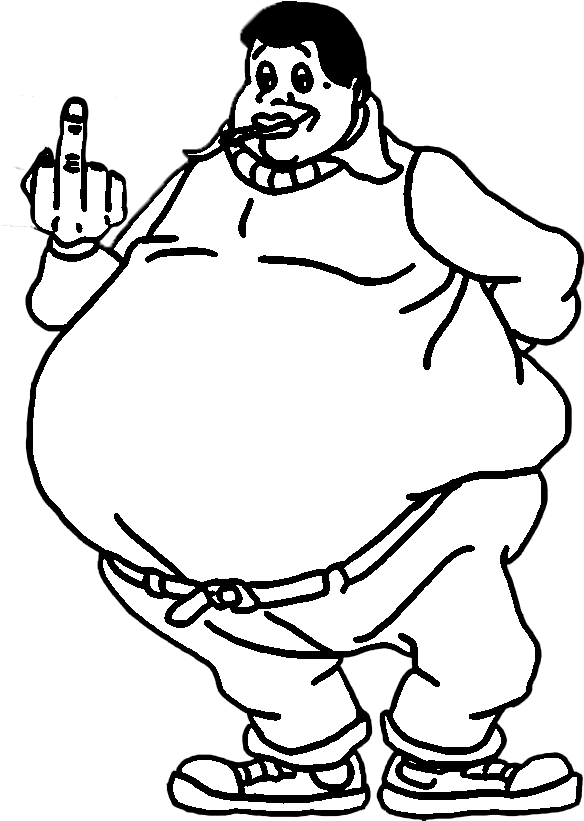 Fat Albert Fat Person Coloring Page Clipart Large Size Png Image Pikpng