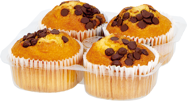 Grays 4 Chocolate Chip Flavour Muffins Cupcake Clipart Large Size Png Image Pikpng