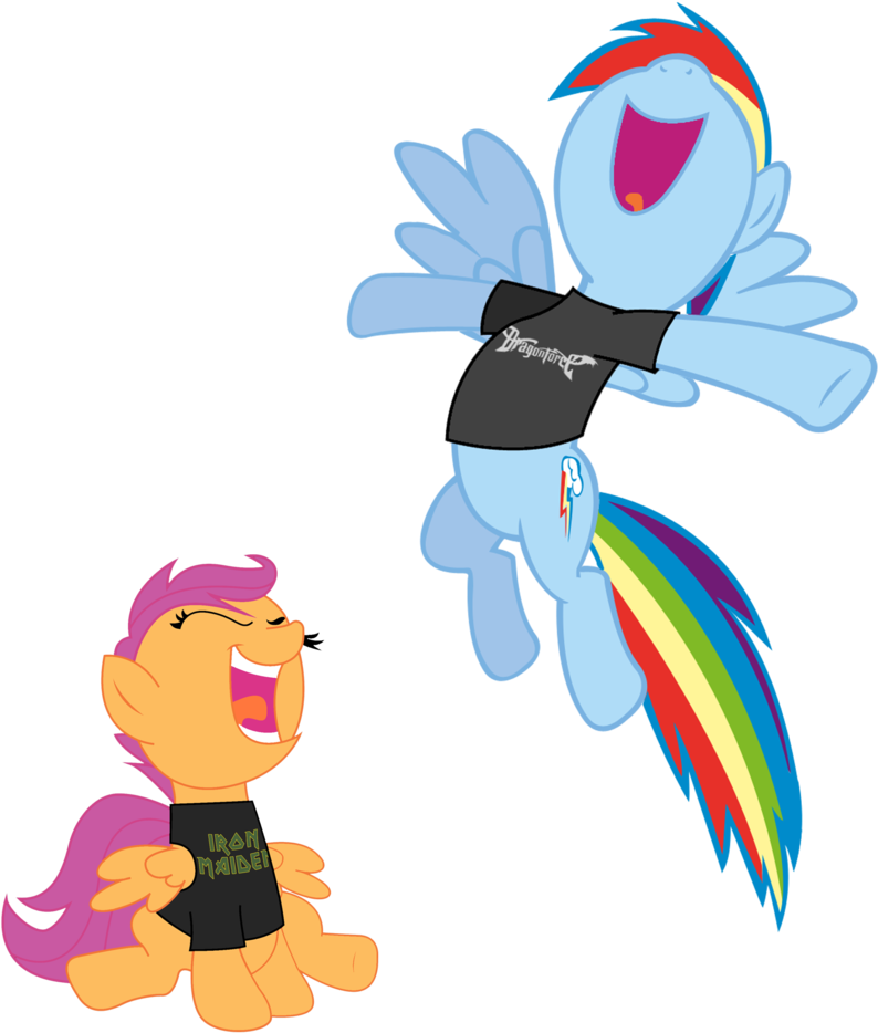 Iron Maiden Clipart Transparent Rainbow Dash And Scootaloo Scat Png Download Large Size Png Image Pikpng Scootaloo from my little pony: pikpng