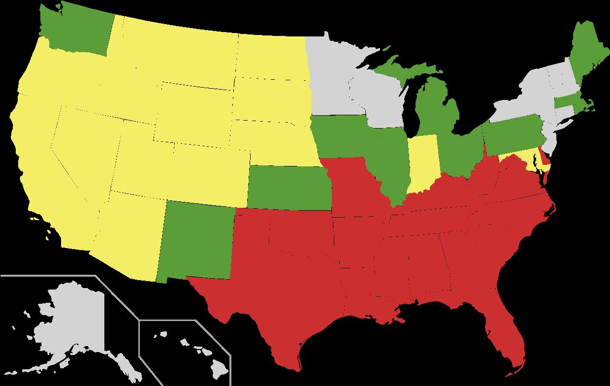 File - Us Miscegenation - Svg - Us Senate Map 2019 Clipart (1280x791), Png Download