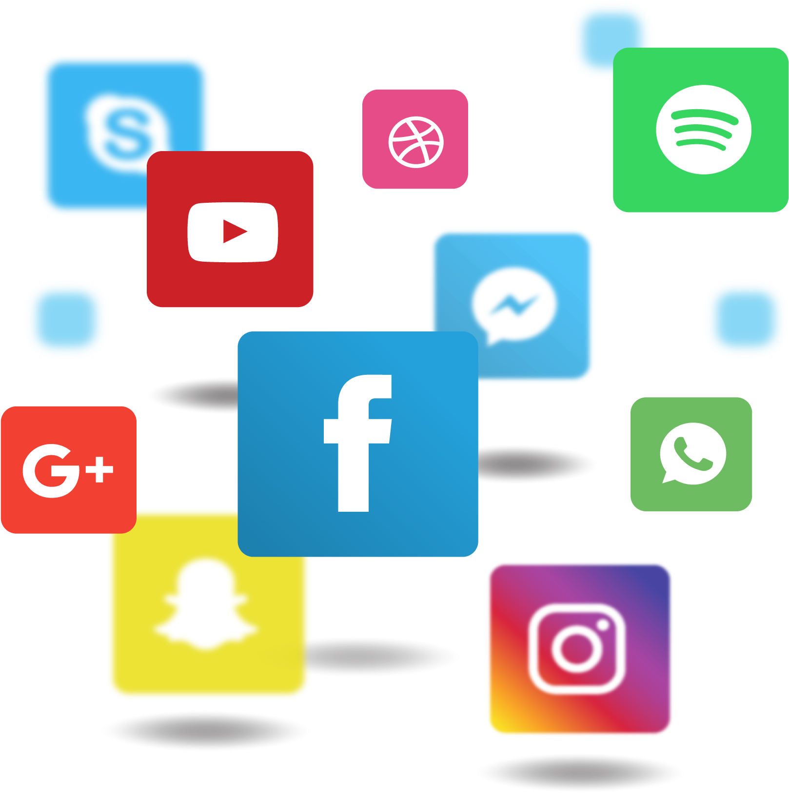 Social Media Png File - Facebook Instagram Circle Logo Clipart (1748x1720), Png Download