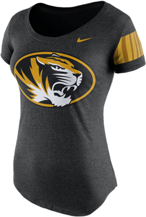 Nike Missouri Tigers Womens Black Dna Tee Scoop T-shirt, - Active Shirt Clipart (700x1000), Png Download