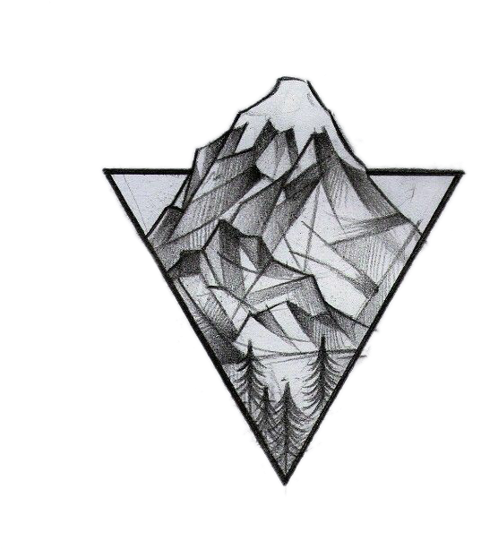 Tattoo Triangle Mountain Geometry Idea Logo Drawing Geometric Tattoo Sketch Clipart Large Size Png Image Pikpng
