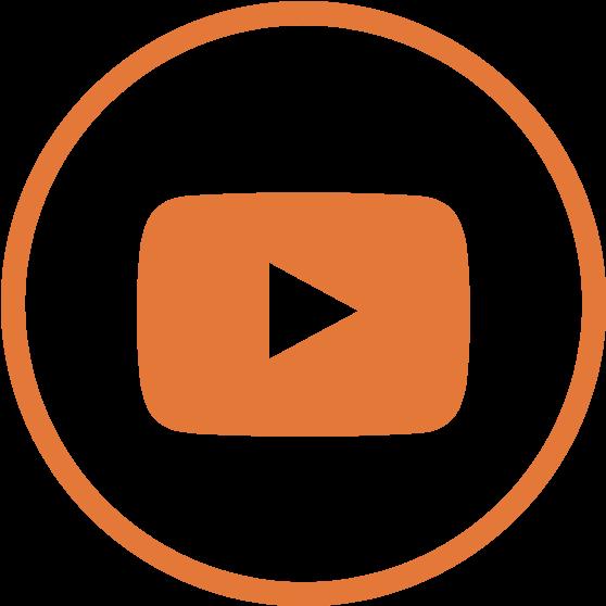 Youtube Logo Orange Youtube Logo Png Clipart Large Size Png Image Pikpng