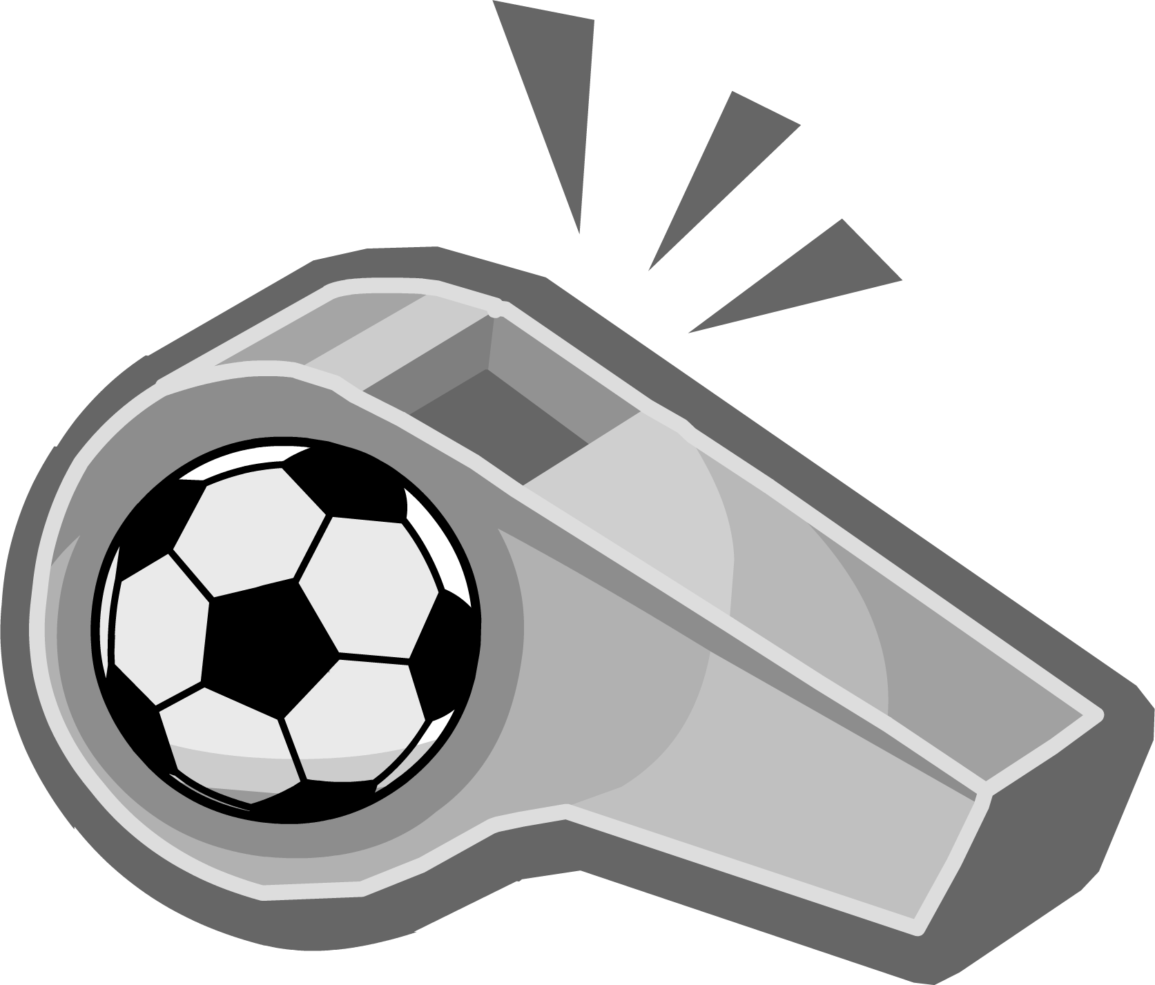 Whistle Png - Clipart Football Whistle Transparent Png (1673x1427), Png Download