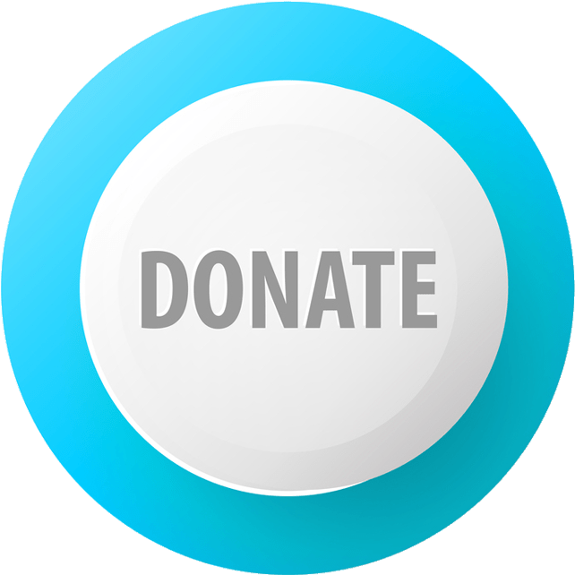 Donate Blue And White Button - Circle Clipart (687x687), Png Download
