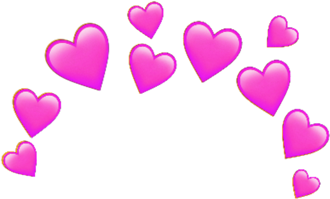 Pink Sticker - Blue Heart Emoji Crown Clipart (1024x1024), Png Download