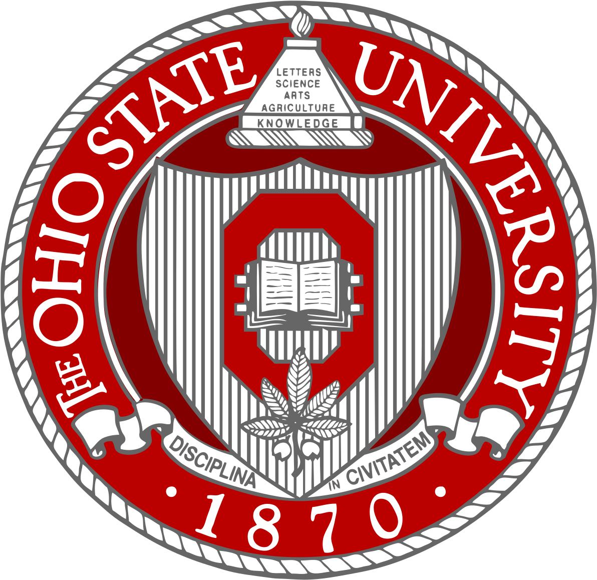 Ohio State University Seal Clipart (800x800), Png Download