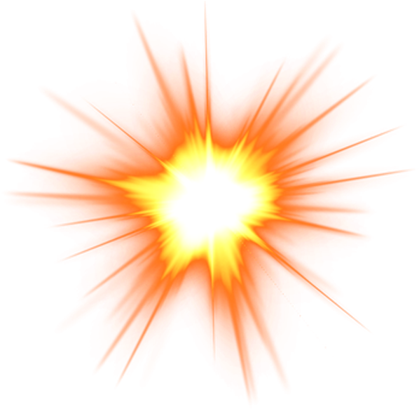 Png Free Explosion Flame Clip Art Solar Light Effect - Fire Explosion Png Transparent Png (600x600), Png Download