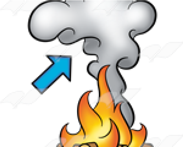 Smoke Effect Clipart Fire - Cartoon Fire And Smoke - Png Download (640x480), Png Download