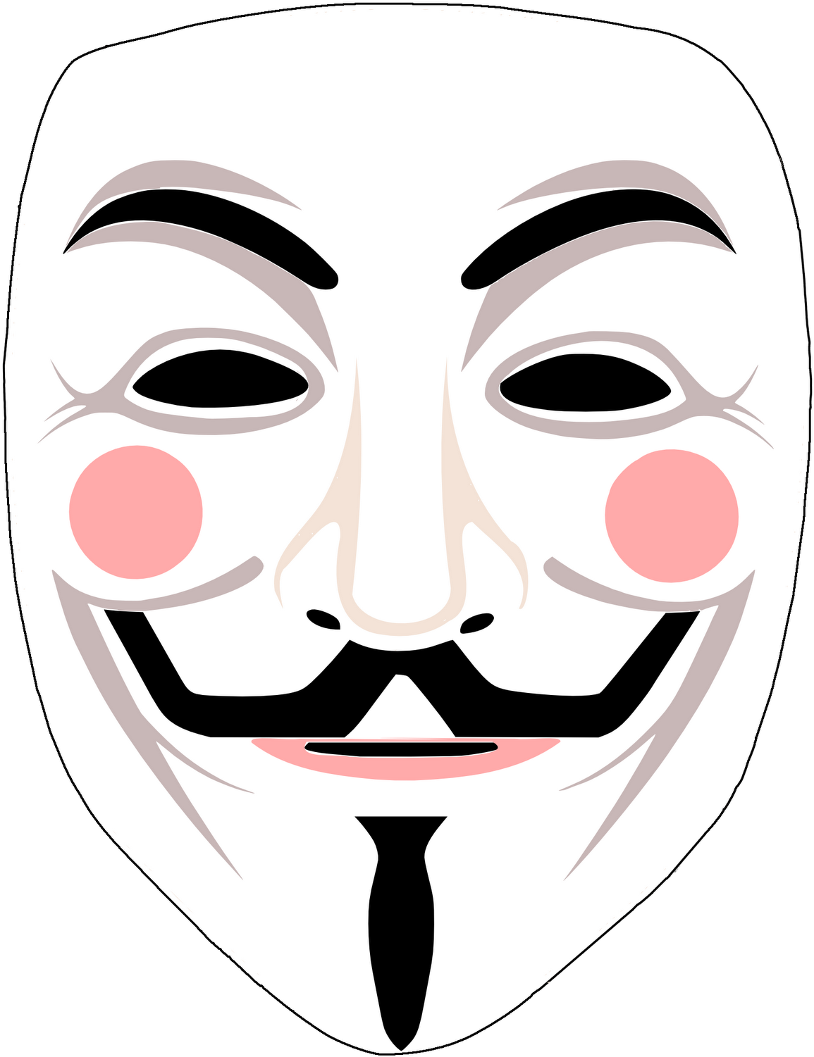 Related Wallpapers Guy Fawkes Mask Transparent Clipart Large