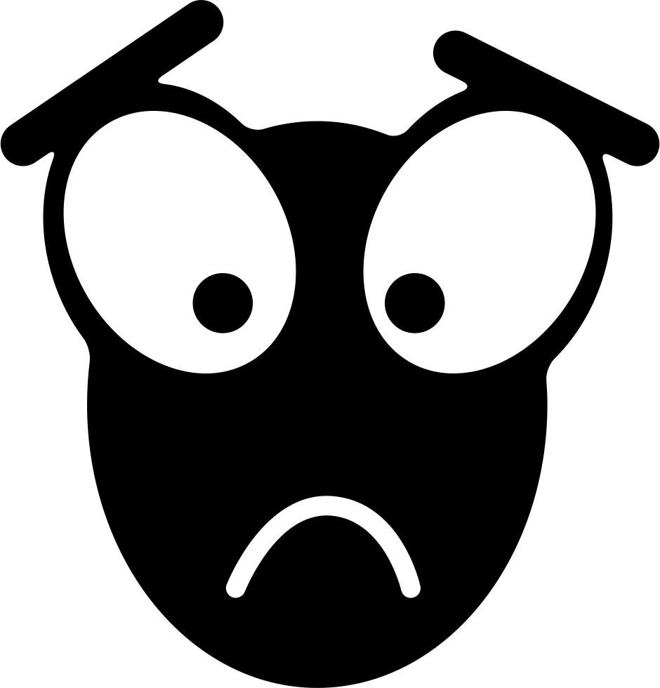 Download Sad Face With Big Eyes Comments - Emoji De Ojos ...