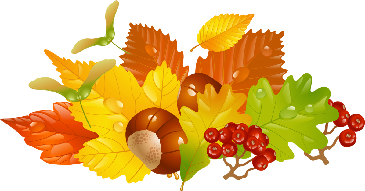 Fall Leaves Wreath Clipart - Png Download (1246x690), Png Download