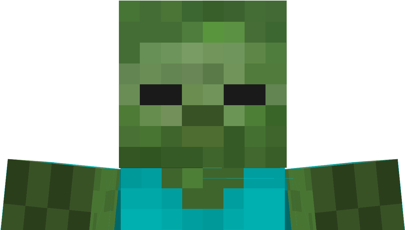 12 X 12 12 - Skin Do Zombie Minecraft Clipart - Large Size Png