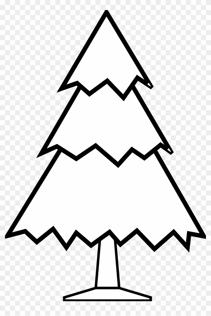 Best Images Of Tree Clipart Black And White - Easy Simple Tree Drawing - Png Download #446