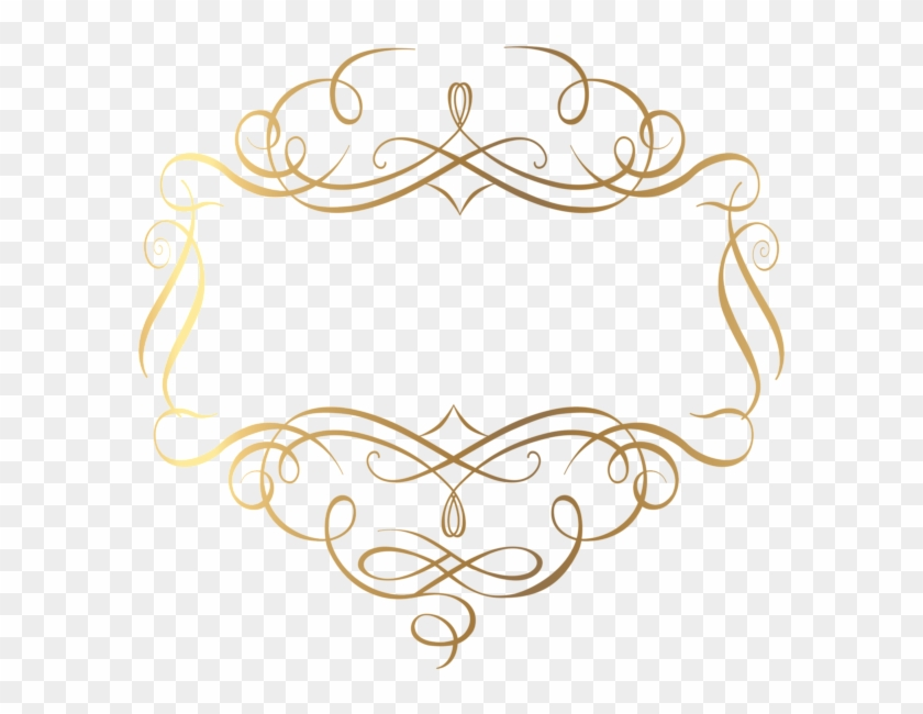 Gold Decorative Lines Png - Decoration Png Clipart #5570
