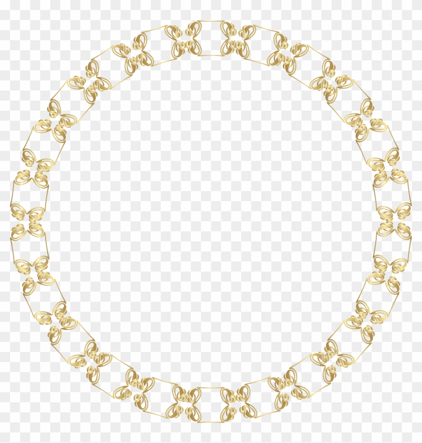 Transparent Download Round Border Frame Gold Png Clip - Vector Graphics #5658