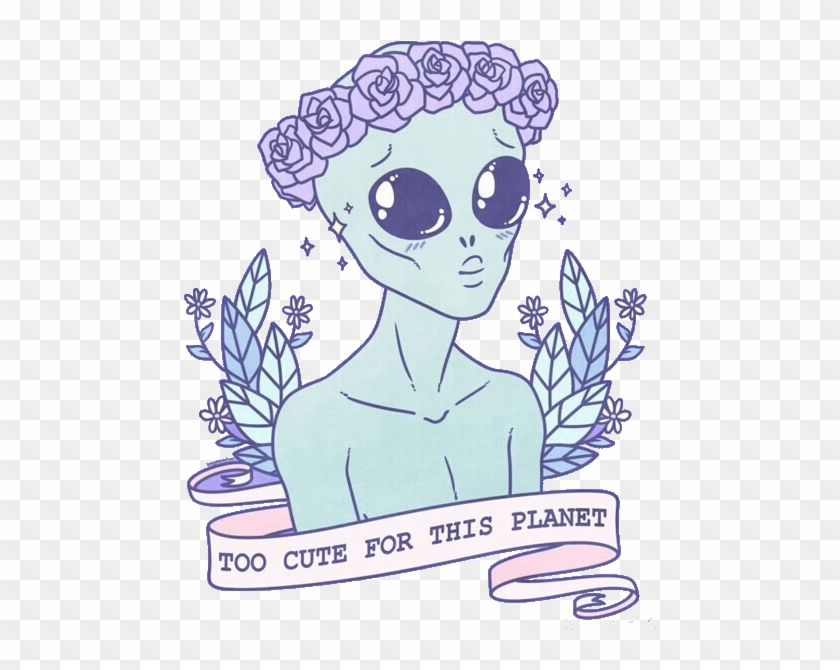 Tumblr Cute Png - Too Cute For This Planet Clipart #6177