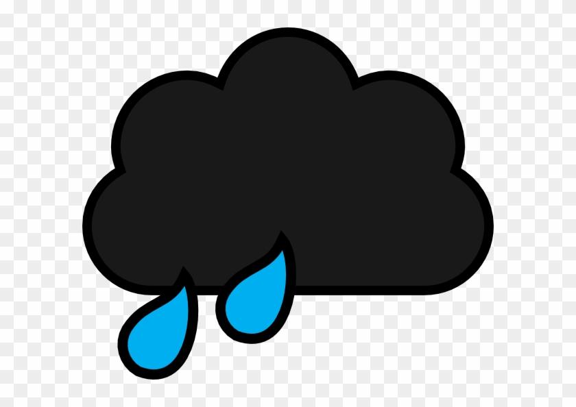 Black Rain Cloud Cartoon Clipart #6266