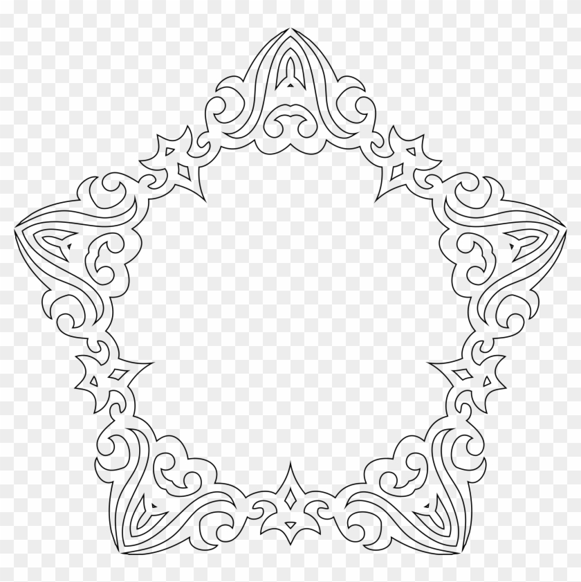 This Free Icons Png Design Of Decorative Line Art Frame Clipart #6286