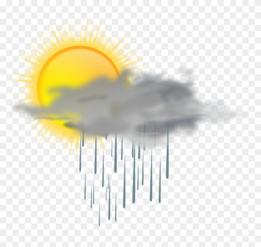 Cloud Rain Rainy Sun Weather Mixed Clipart #6332