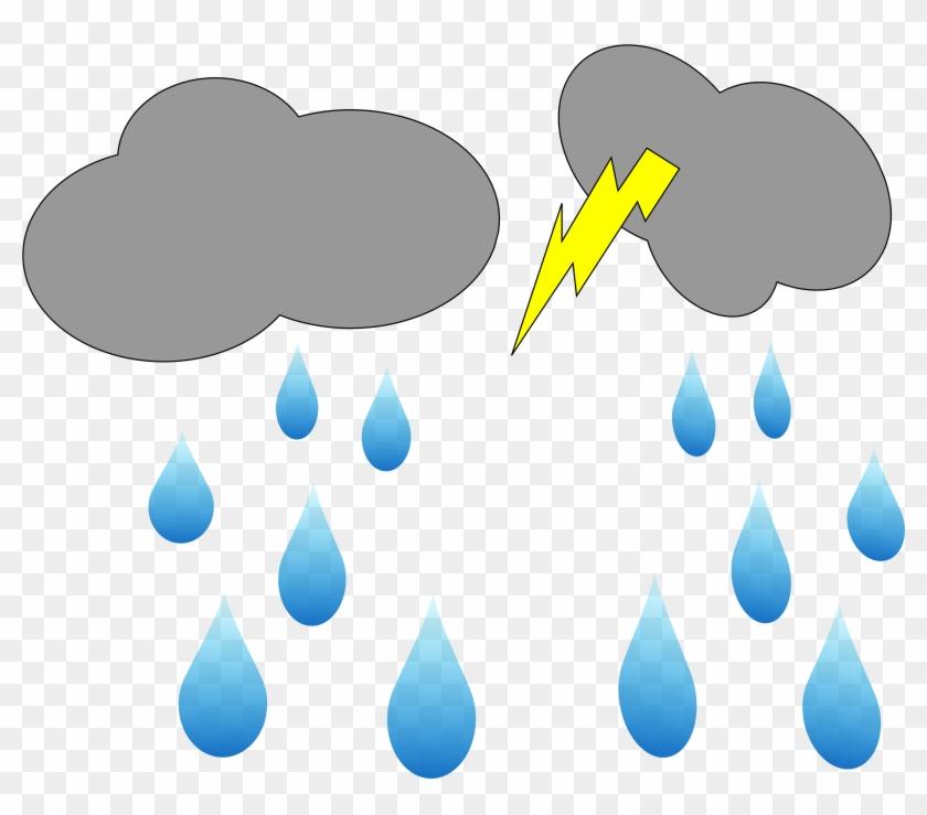 Lightning Rain Cloud Blog Clipart Clip - Raining Cloud Gif Png Transparent Png #6357