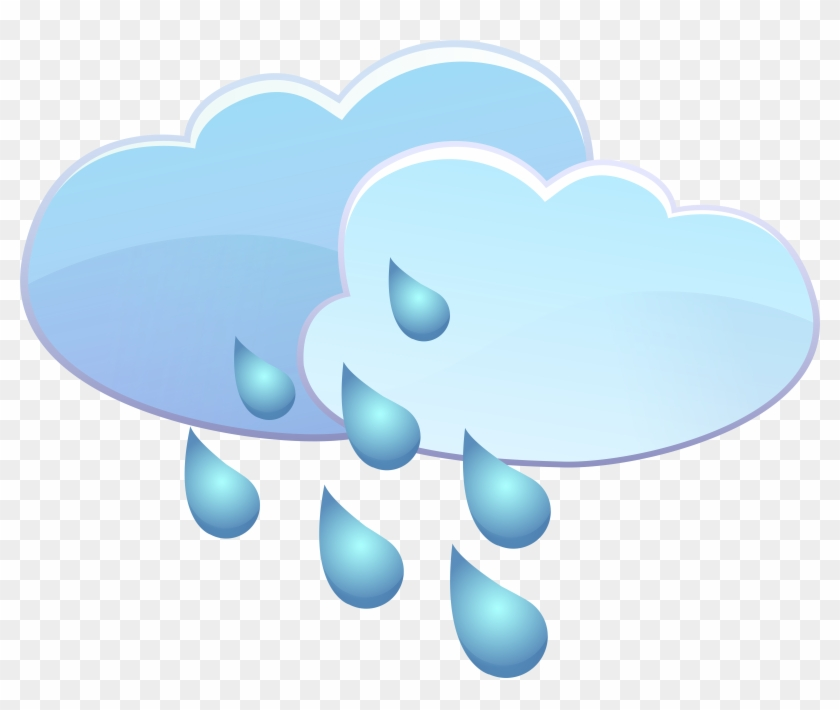 Clouds And Rain Drops Weather Icon Png Clip Art Transparent Png #6641