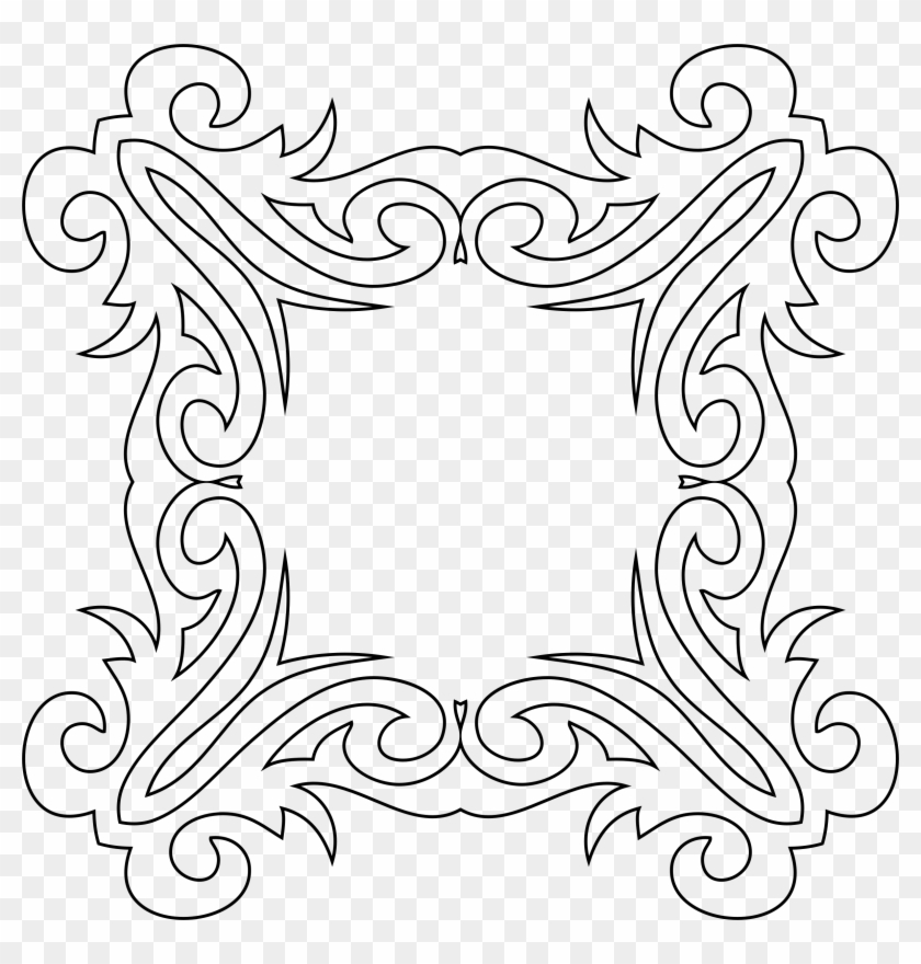 White Decorative Line Png - Motif Clipart@pikpng.com