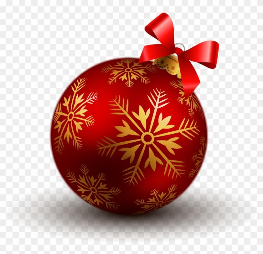 Ball Christmas Boule De Noel Rouge Et Clipart 7564 Pikpng