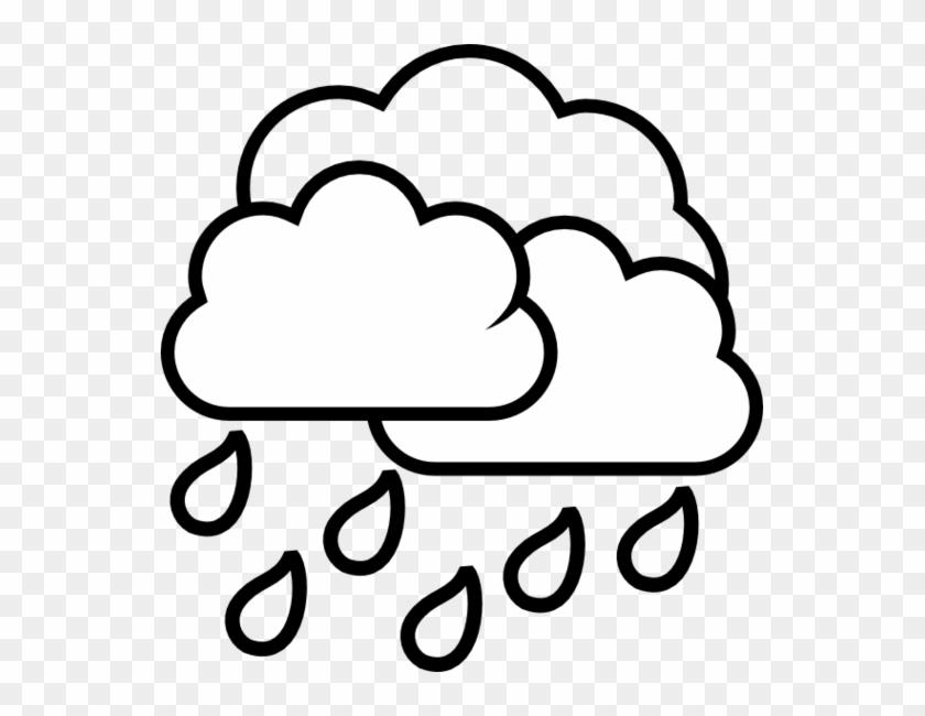 Cloud Black And White Rain Cloud Clipart Black And - Rain Clip Art Black And White - Png Download #7731