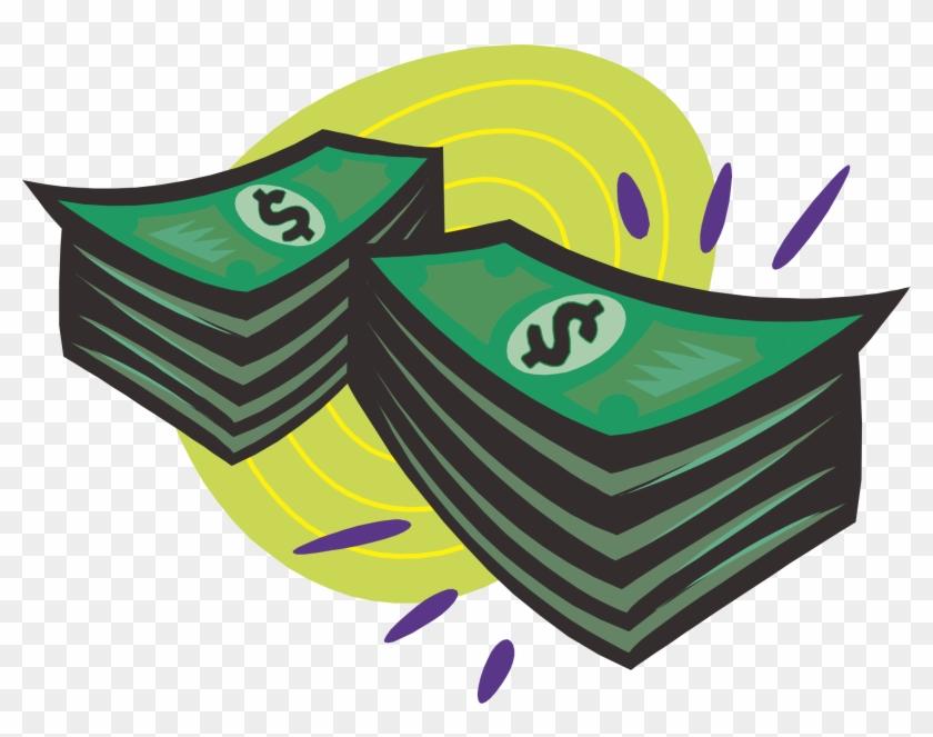 Cash Money Clip Art - Animated Money Stacks - Png Download ...