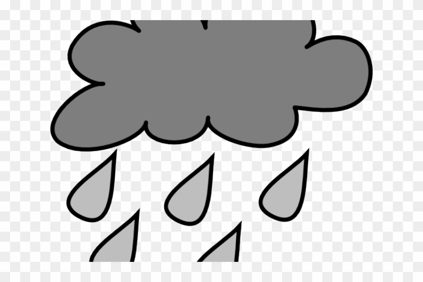 Rain Clipart Rain Cloud - Cartoon Cloud With Rain - Png Download #7976