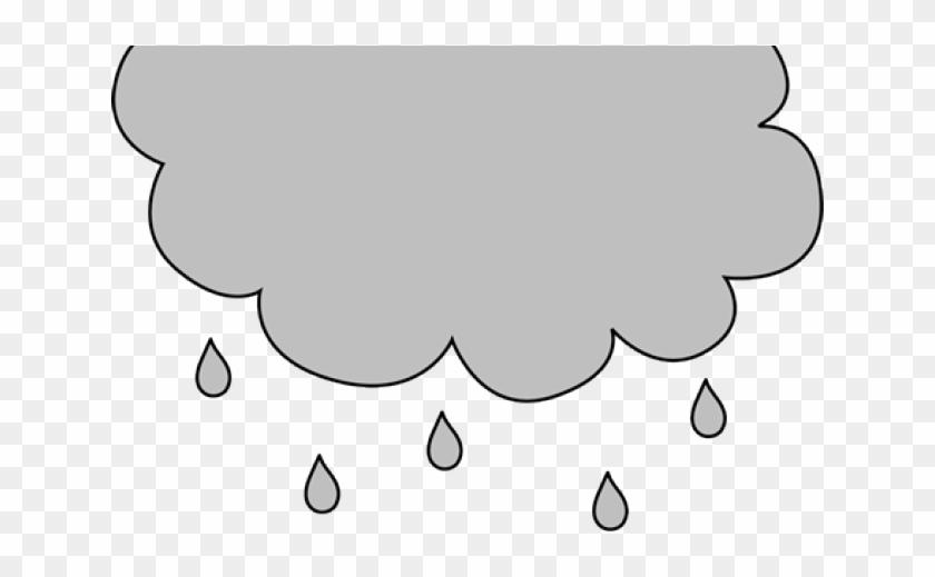 Gray Clipart Rain Cloud - Line Art - Png Download #8658